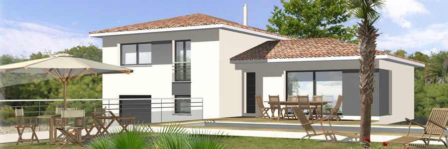 Nos maisons maisons blanches constructeur de maisons for Constructeur de maison contemporaine dans le var