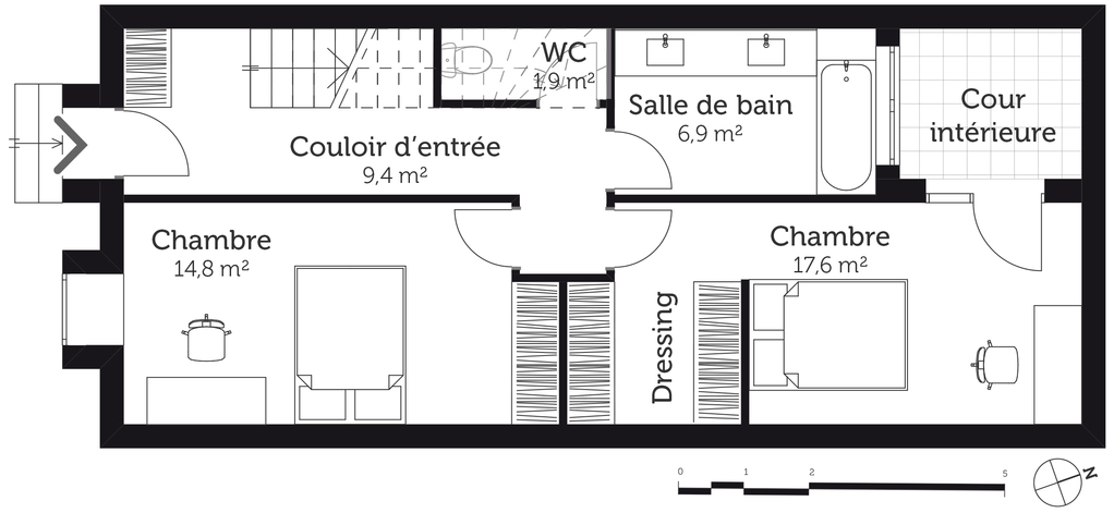 Maison Mitoyenne Plan Best Plans With Maison Mitoyenne Plan