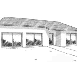 croquis maison individuelle traditionnelle 100m2