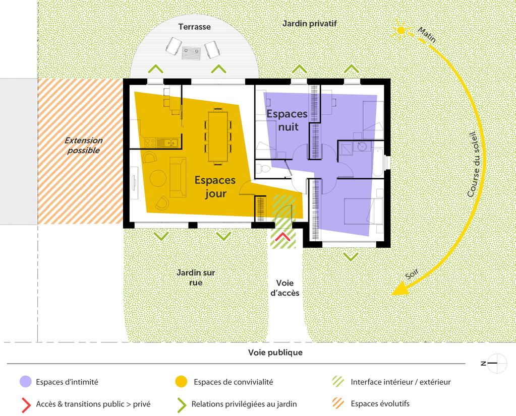 D couvrez 5 plans de maisons de 100m et les plans de masse - Plan de masse et plan de situation ...