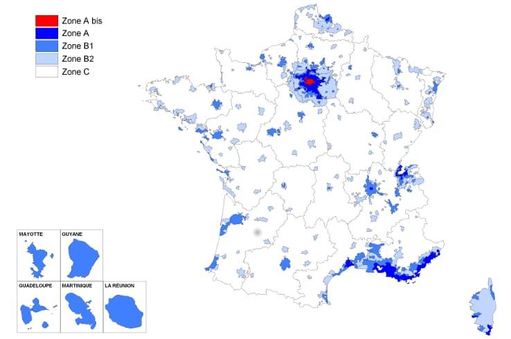 zonage loi pinel : villes éligibles à la Loi Pinel