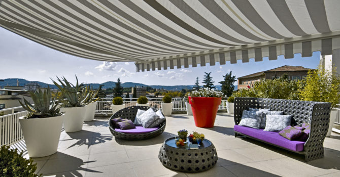 modern luxurious furnishing for a  terrace