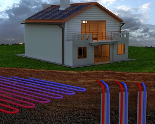 Geothermie Regenwassernutzung